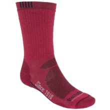 Ballston High-Performance Trekking Socks - Merino Wool, Midweight, Crew (For Men) in Dark Red - Closeouts