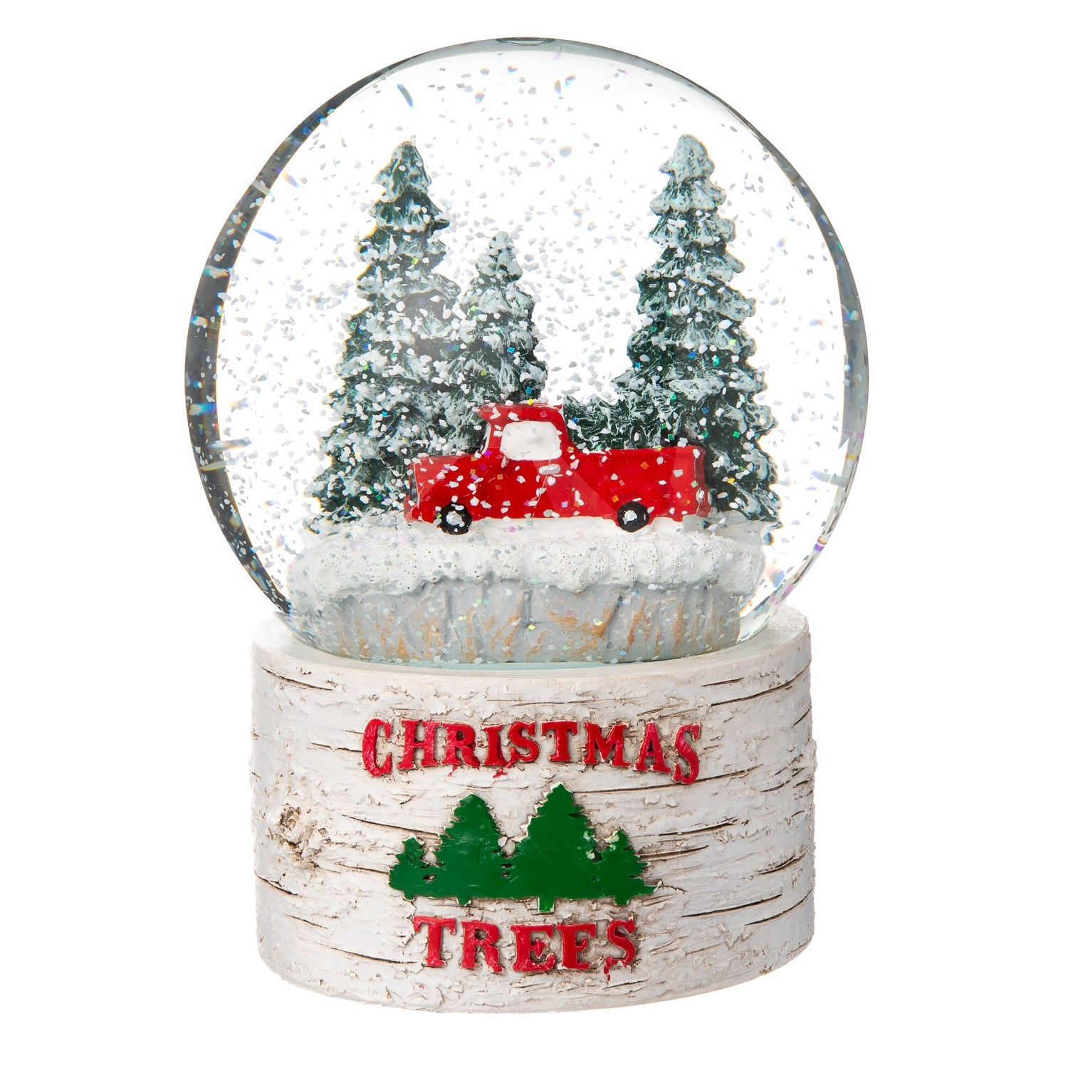 """Balsam & Fir Red Truck in the Forest """"Christmas Trees"""" Musical Snow ..."""