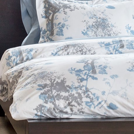 Bambeco Arbor Grove Woodland Organic Cotton Duvet Cover - Full-Queen in Blue