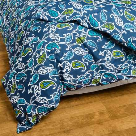 Bambeco Britton Paisley Duvet Cover - King, Organic Cotton in Blue/Green - Closeouts