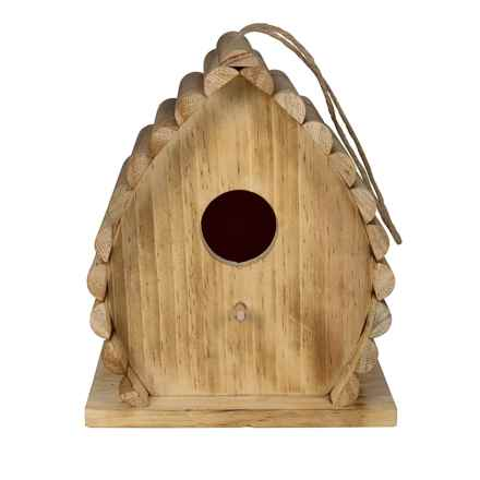 Bambeco Dew Drop Birdhouse in Natural - Closeouts