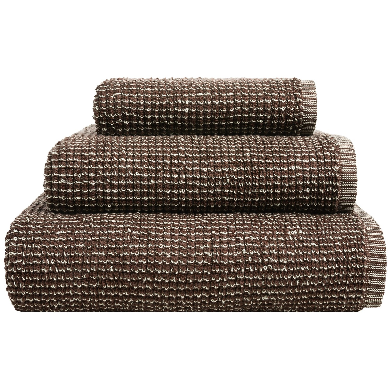 bambeco duoweave bath sheet organic cotton in chestnut brownflax