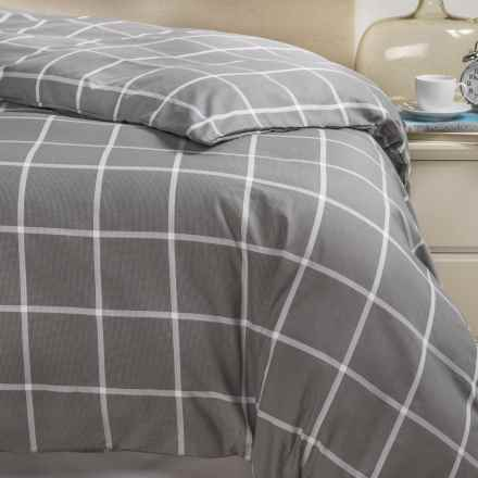 Bambeco Emerson Windowpane Organic Cotton Duvet Cover - King in Charcoal - Closeouts