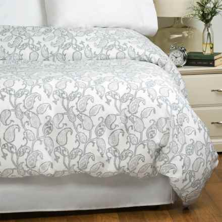 Bambeco Emma Paisley Cloud Duvet Cover - Full-Queen, Organic Cotton in Gray - Closeouts
