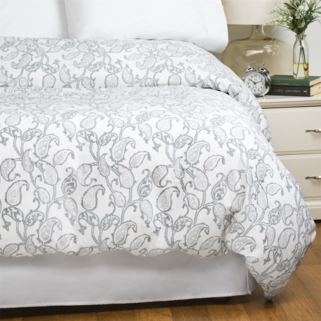 Bambeco Emma Paisley Cloud Duvet Cover - King, Organic Cotton in Cloud