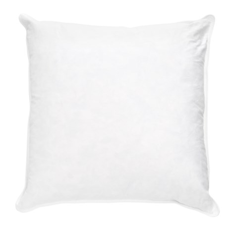 """Bambeco Feather-and-Down Square Throw Pillow - 18x18"""" in White"""
