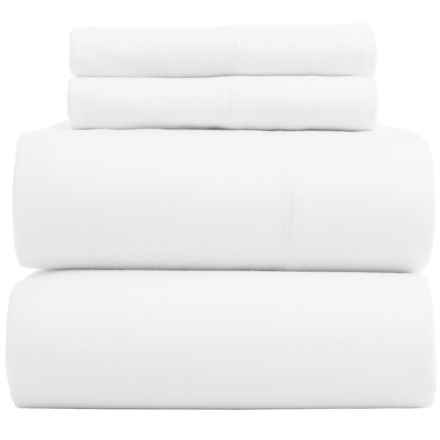 Bambeco Flannel Solid Sheet Set - Full, Organic Cotton in White - Closeouts