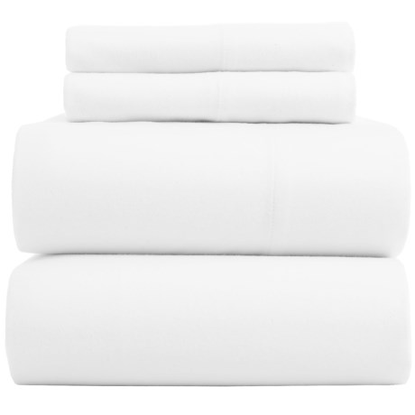 Bambeco Flannel Solid Sheet Set - Queen, Organic Cotton in White
