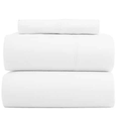 Bambeco Flannel Solid Sheet Set - Twin, Organic Cotton in White