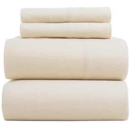 Bambeco Flannel Solid Sheet Sets - King, Organic Cotton in Ivory - Closeouts