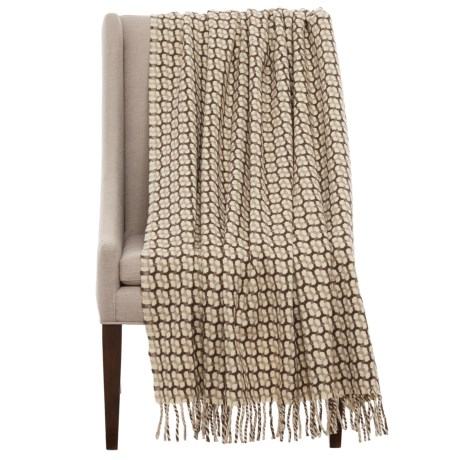 "Bambeco Gathering Print Wool Throw Blanket - 51x71"" in Grey"