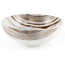 Bambeco Goode Grain Porcelain Cereal Bowl in White/Wood Grain - Overstock