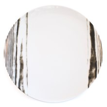 Bambeco Goode Grain Porcelain Dinner Plate in White/Wood Grain - Overstock