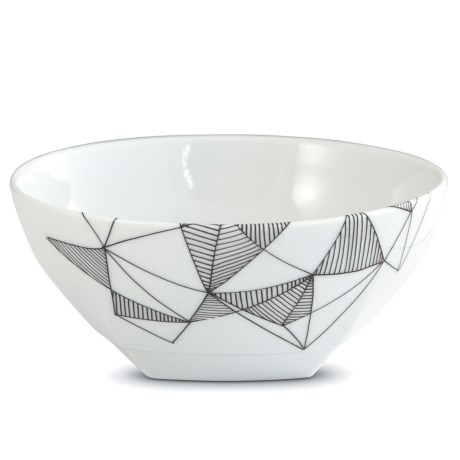Bambeco Graphique Porcelain Cereal Bowl in Grey/White