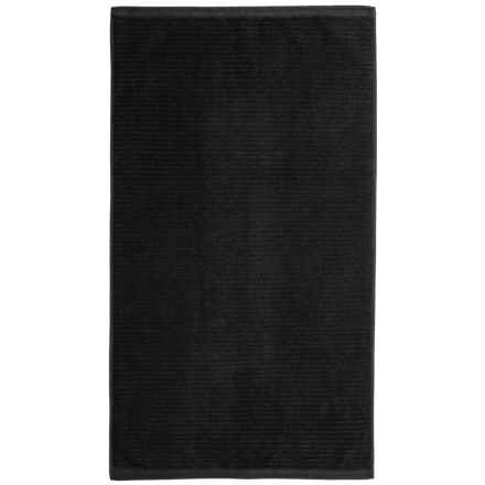 Bambeco Jacquard Rib Bath Mat - Organic Cotton in Black - Closeouts