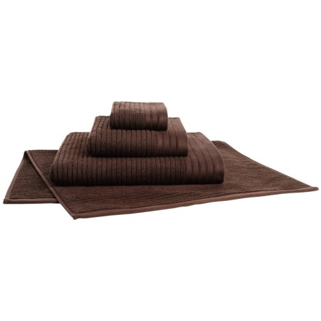 Bambeco Jacquard Rib Bath Towel - Organic Cotton in Chestnut