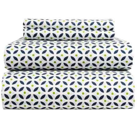 Bambeco Kaleidoscope Organic Cotton Sheet Set - King in Blue/Green - Closeouts