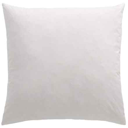 """Bambeco Kantha Pillow Insert - 22x22"""", Feathers in White - Closeouts"""