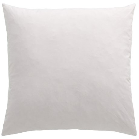 """Bambeco Kantha Pillow Insert - 22x22"""", Feathers in White"""