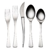 Bambeco Lucca Flatware Single Place Setting - 5-Piece Stainless Steel