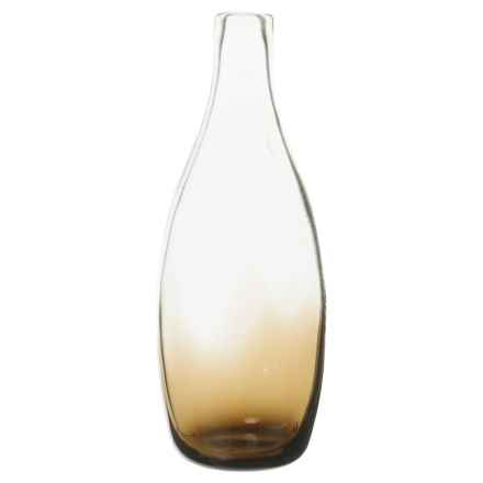 "Bambeco Marcel Recycled Glass Carafe - 10"" in Smoke - Closeouts"