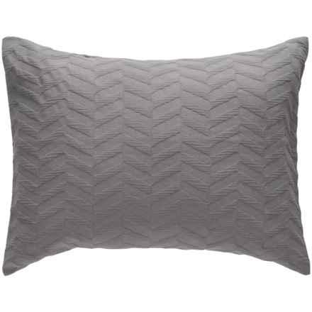 Bambeco Matelasse Chevron Pillow Sham - Standard, Organic Cotton in Cloud - Closeouts