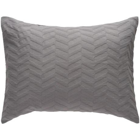 Bambeco Matelasse Chevron Pillow Sham - Standard, Organic Cotton in Cloud