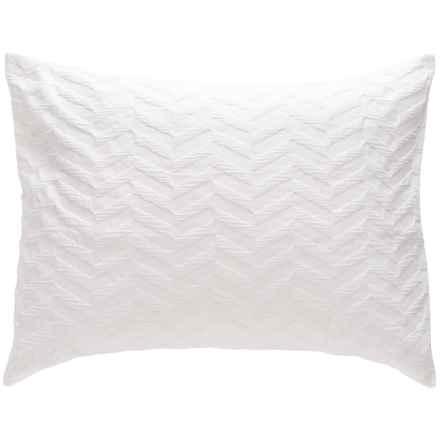 Bambeco Matelasse Chevron Pillow Sham - Standard, Organic Cotton in White - Closeouts