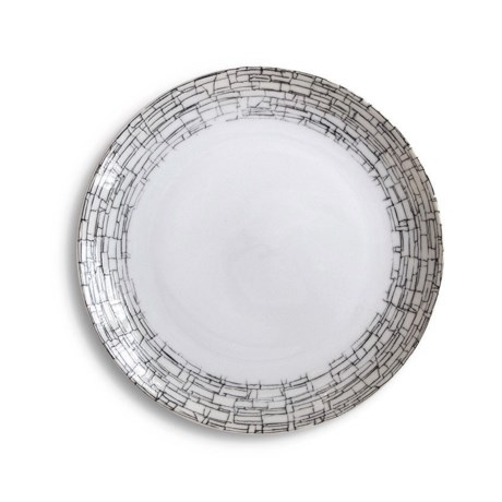 Bambeco Milano Porcelain Salad Plate in Grey Mosaic
