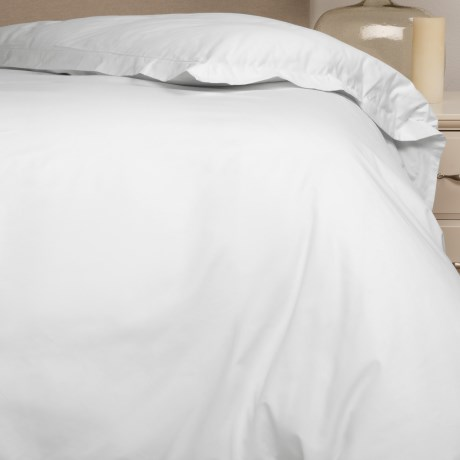 Bambeco Organic Cotton Sateen Duvet Cover - King, 500 TC in White