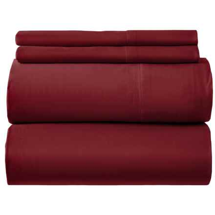 Bambeco Organic Cotton Sateen Port Sheet Set - King, 300 TC in Port - Closeouts