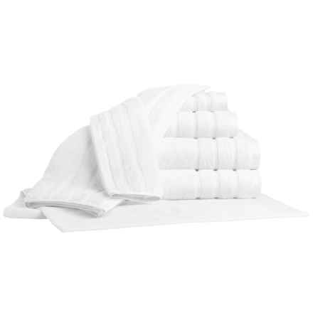Bambeco Organic Cotton Towel Set - 7-Piece in White - Closeouts