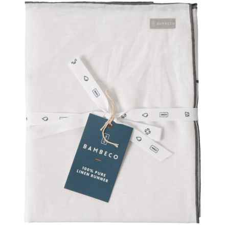 """Bambeco Organic Linen Table Runner - 16x72"""" in Cloud - Closeouts"""