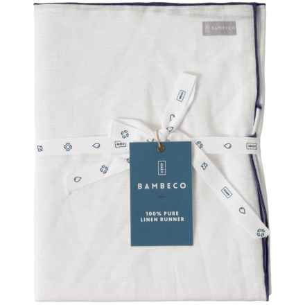 "Bambeco Organic Linen Table Runner - 16x72"" in Indigo - Closeouts"