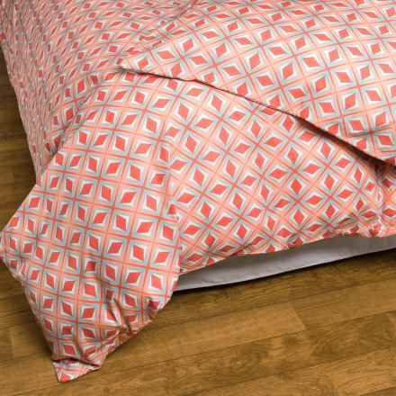Bambeco Paragon Duvet Cover - King, Organic Cotton in Coral - Closeouts