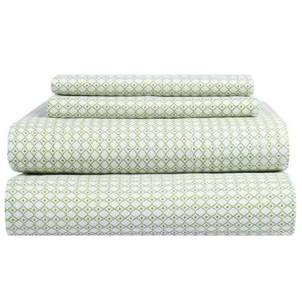 Bambeco Petite Collection Diamond Sheet Set - Twin, Organic Cotton in Green - Closeouts