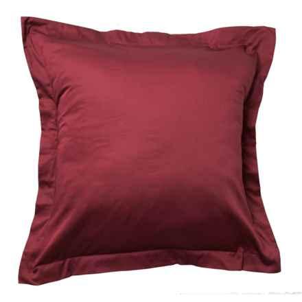 Bambeco Porcelain Organic Cotton Sateen Pillow Sham - Euro, 300 TC in Porcelan - Closeouts