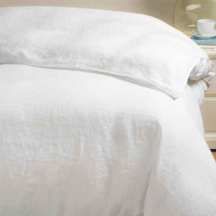 Bambeco Pure Linen Duvet Cover - King in White - Closeouts