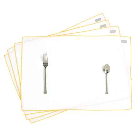 Bambeco Pure Linen Placemats - Set of 4 in Sunshine Yellow - Closeouts