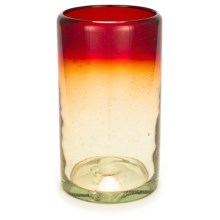 Bambeco Rioja Recycled Pint Glass - 16 fl.oz. in Red/Yellow - Overstock