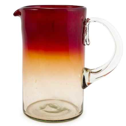 Bambeco Rioja Recycled Pitcher - 64 fl.oz. in Red/Yellow - Overstock