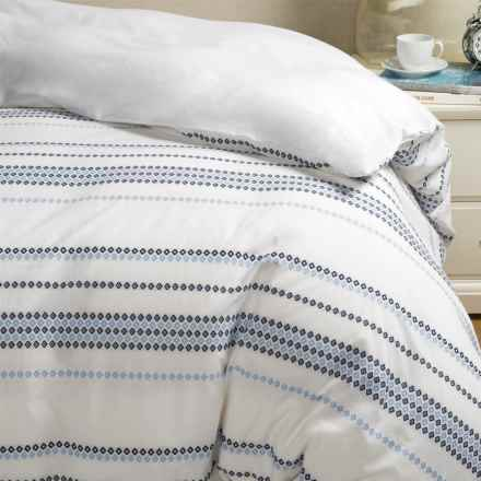 Bambeco Santorini Duvet Cover - Full-Queen, Organic Cotton in Blue/White - Closeouts