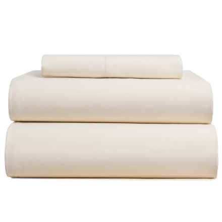 Bambeco Sateen Solid Sheet Set - Twin, Organic Cotton, 300 TC in Ivory - Closeouts