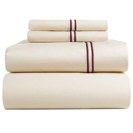 Bambeco Satin Stitch Sateen Organic Cotton Sheet Set - King, 500 TC