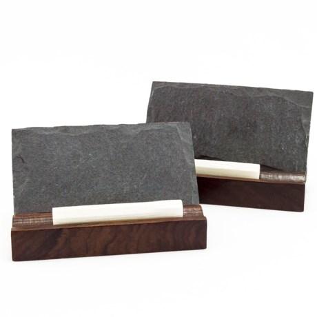 Bambeco Slate Mini Menu Board with Chalk - Set of 2