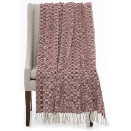 """Bambeco Spike Print Wool Throw Blanket - 51x71"""" in Port - Closeouts"""