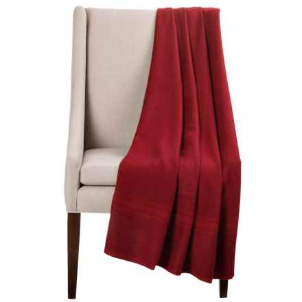 Bambeco Striped Baby Alpaca Throw Blanket in Red - Closeouts