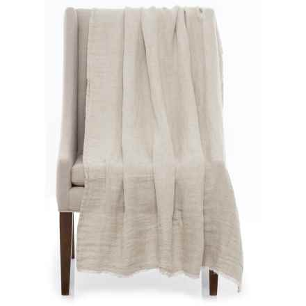 "Bambeco Terra Linen Throw Blanket - 50x70"" in Natural - Closeouts"