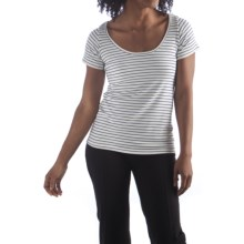 Bamboo Dreams® by Yala Kai Shirt - Scoop Neck, Short Sleeve (For Women) in Riviera/Natural - Closeouts