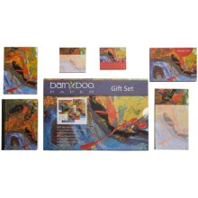 Bamboo Paper Gift Set - 6-Piece in Abstract - Closeouts